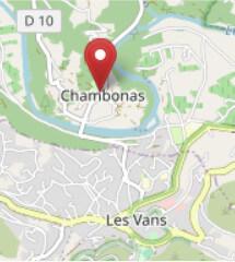 Carte accès Mairie de Chambonas